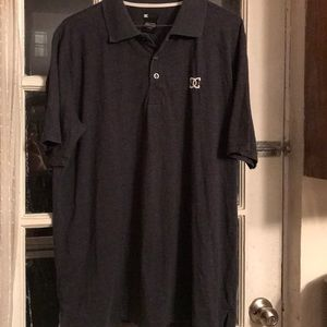 DC dark grey short sleeve polo